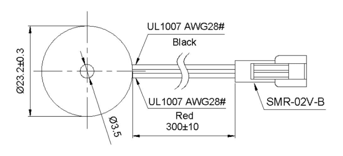 Buzzer AVULSO  para TrackSat-5W-M e TrackSat-10
